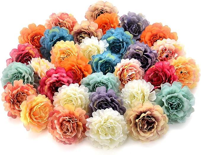 2x 144Pcs Artificial Fake Flower Silk Rose Heads Bulk Wedding Party Decor Blue