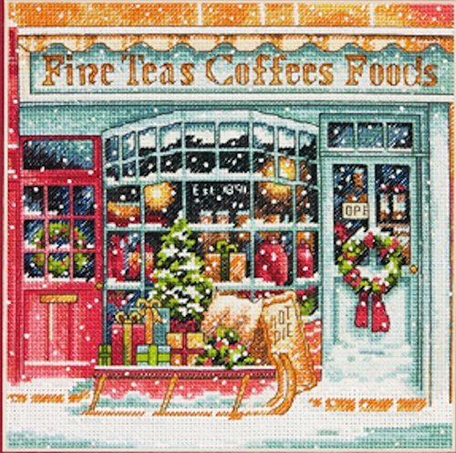 Dimensions Gold Collection Coffee Shop Counted Cross Stitch
