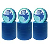 "18 Rolls 0.94"" Pro-Grade Blue Painters Tape, Medium Adhesive That Sticks Well But No Residue Left Behind, Individually Packed Wall Friendly by KIWIHUB"