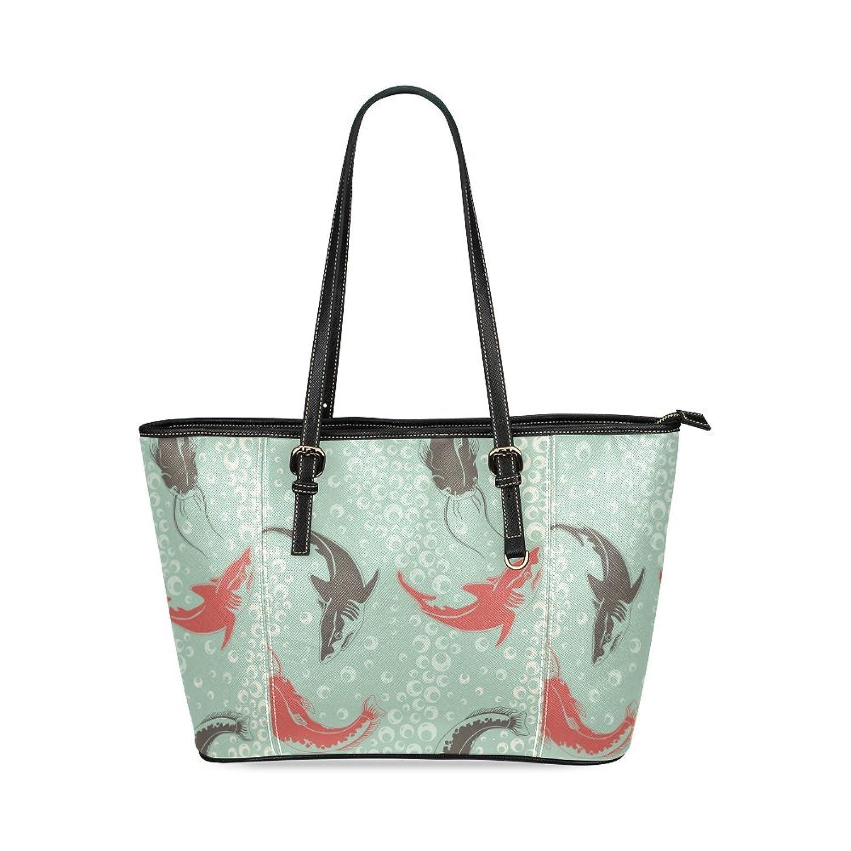 Shark and Silurus Custom PU Leather Large Tote Bag/Handbag/Shoulder Bag for Fashion Women /Girls