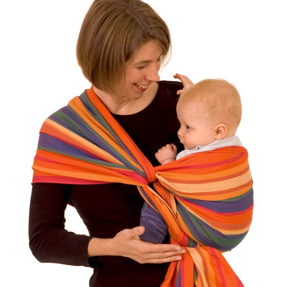 DIDYMOS Woven Wrap Baby Carrier Stripes KATJA Organic Cotton , Size 6