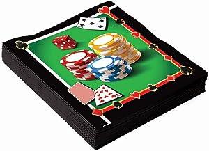 Forum Novelties X77549 Casino Party Dinner Napkins, Multi-color, One Size