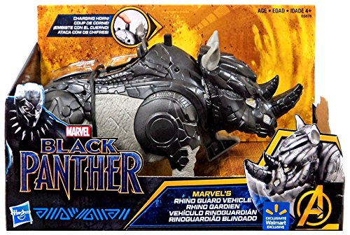 Marvel Black Panther Rhino Guard Vehicle with Charging horn action | Compatible with 6 inch action figures Hasbro Toys