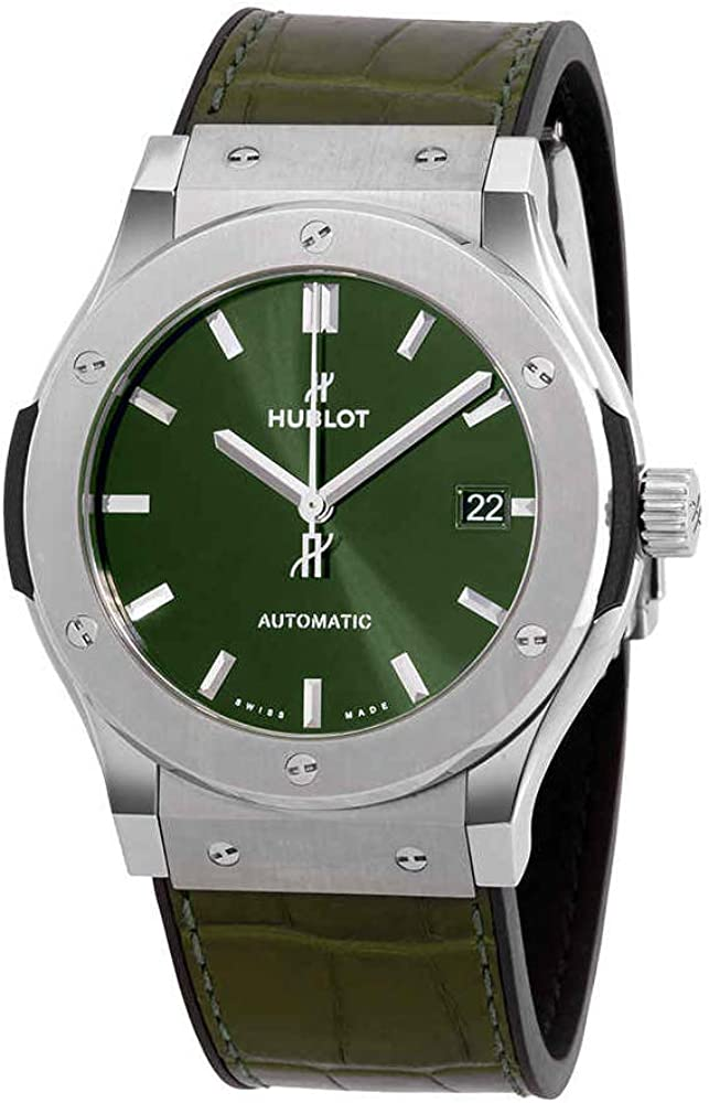 Hublot 511.NX.8970.LR Classic Fusion - Reloj (45 mm), color verde