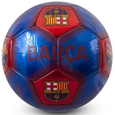 FCB FC Barcelona - Balón de fútbol, Color Azul/Rojo, tamaño Talla ...