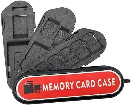 Estuche para tarjetas de memoria, soporte de tarjeta de memoria LXH Soporte de tarjeta SD, soporte de tarjeta de cámara con mosquetón: Amazon.es: Electrónica