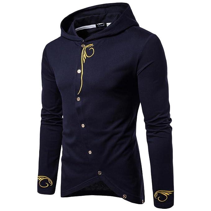 ITISME Herren Pullover MäNner Langarm Hoodie Einfarbig Mantel Jacke Outwear  Sport TopsCamouflage Creme DüNn Dunkelrot Ellbogenpatches Extra Lang  Elegant ... 2288de1652