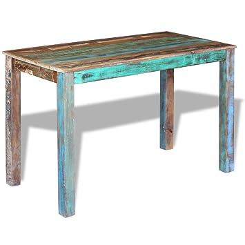 Amazon.de: Festnight Retro Esstisch Holz Tisch Esszimmertisch ...