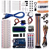 Kuman UNO R3 Project Super Starter Kit For Arduino DIY Mega 2560 Nano learning kits LCD Screen Breadboard Temperature sensor jumper wires cables servo motor K65
