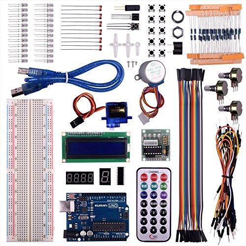 Kuman UNO R3 Project Super Starter Kit For Arduino DIY Mega 2560 Nano learning kits LCD Screen Breadboard Temperature sensor jumper wires cables servo motor ()