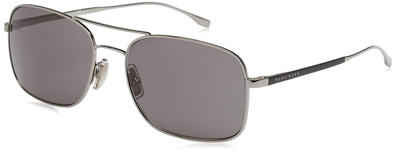 63173713f927 Amazon.com: Hugo Boss 0781/S AGL Gunmetal/Black 0781/S Square Pilot Sunglasses  Lens Categ: Hugo Boss: Clothing