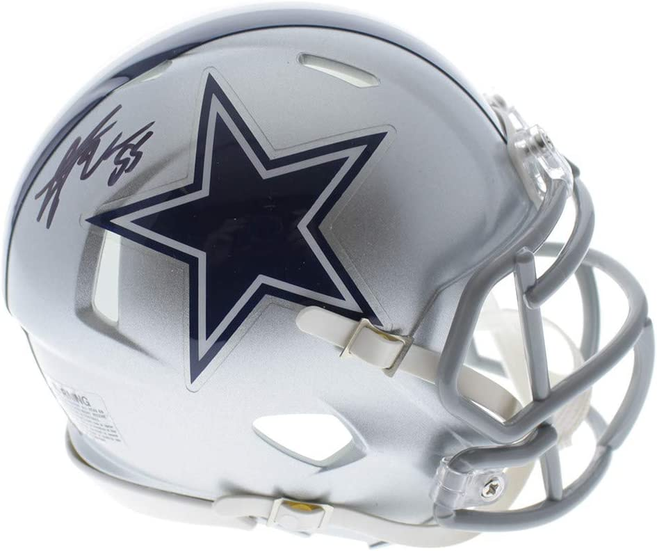 Leighton Vander Esch Dallas Cowboys Autographed Signed Riddell Speed Mini Helmet JSA Authentic
