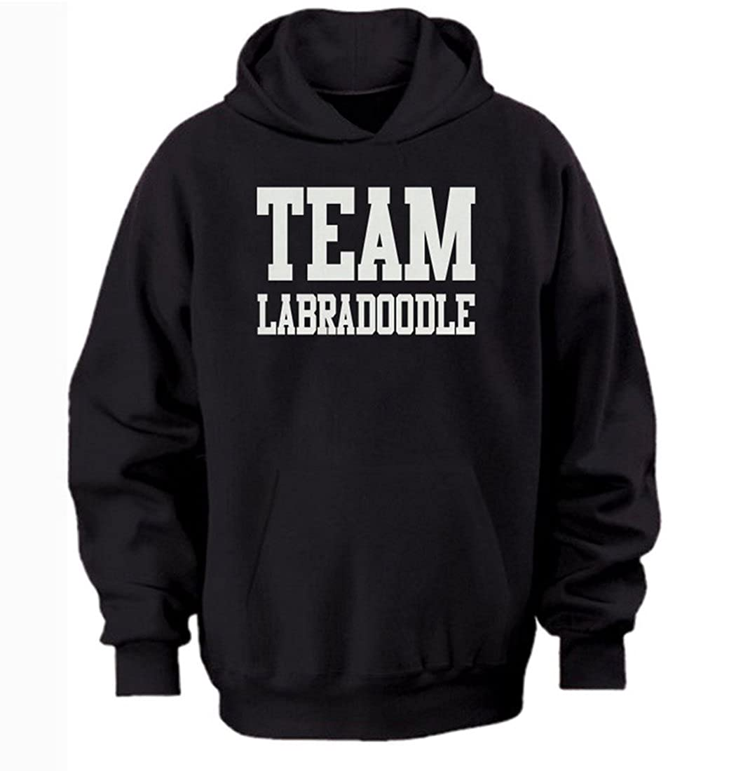 free worldwide shipping 3xl//55 inch chest Team labradoodle hoodie by Bertie black