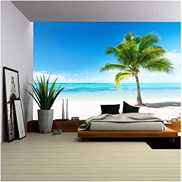 wall26 Removable Wall Mural Self-adhesive Large Wallpaper palm and beach