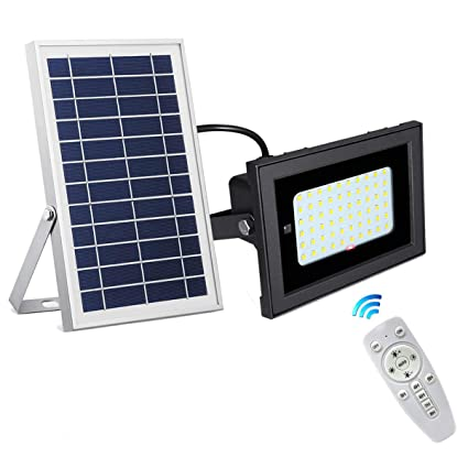 Amazon.com: SEMILITS - Luces solares de inundación 54 LED ...