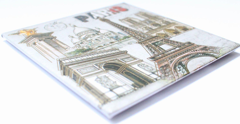 magnet aimant frigo MGD4 cuisine souvenir France Paris cadeaux Tour Eiffel 8,5X8,5 cm