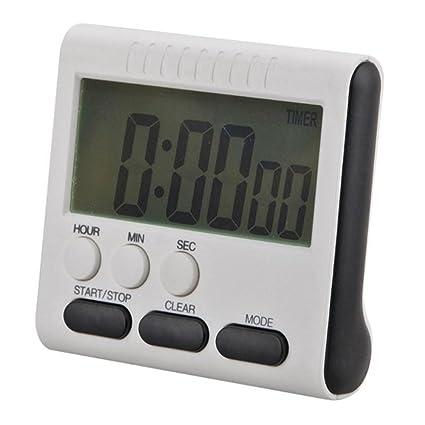 Hoosiwee Temporizador digital de cocina con pantalla LCD grande, función de alarma de cuenta atrás