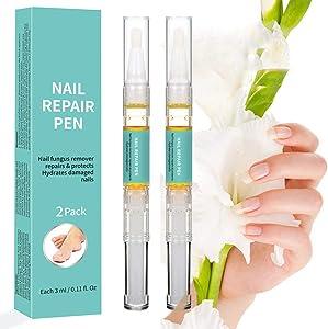 Balight Nail Repair Pen Set 2-Pen Fingernail & Toenail Health Care Bundle Natural Essential Oil Nail Fungus Treatment Repairs Nail Damage, Renews Broken, Cracked & Discolored Nails 1 set