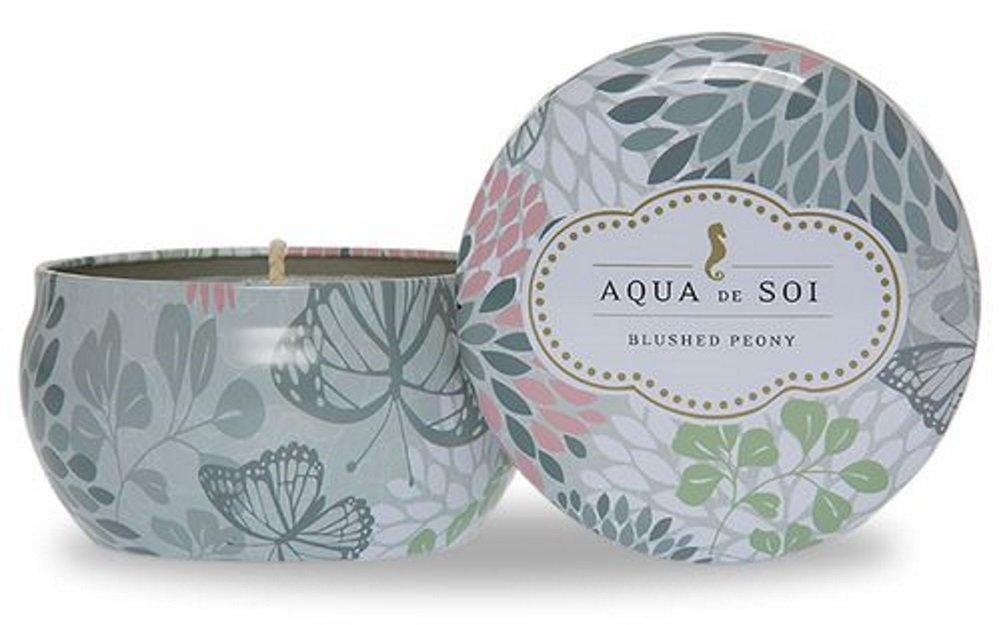 The SOi Company Aqua de SOi 100% Premium Natural Soy Candle, 9 Ounces (Blushed Peony) by SOI Company