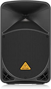 """Behringer Eurolive B112D Active 2-Way 12"""" PA Speaker System with Wireless Option and Integrated Mixer,Black"""