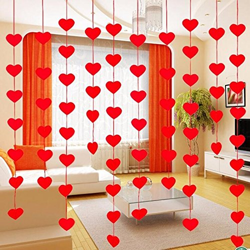 red-love-heart-shape-curtain-valentine-hearts-ornaments-charm-300cm-rope-felt-non-woven-for-home-wed