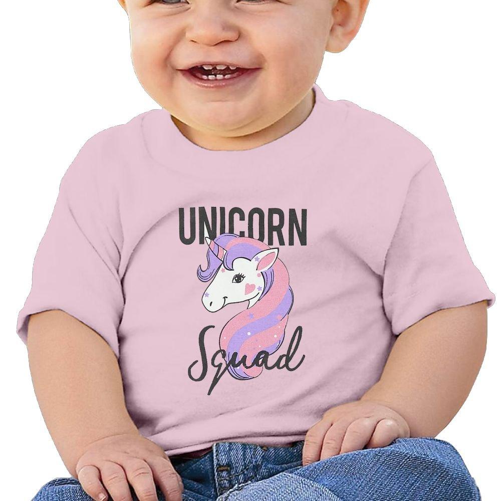 REBELN Unicorn Squad Cotton Short Sleeve T Shirts For Baby Toddler Infant