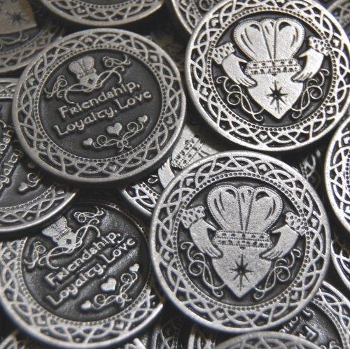 Set of 10 Friendship Loyalty Love Pocket Token Coins