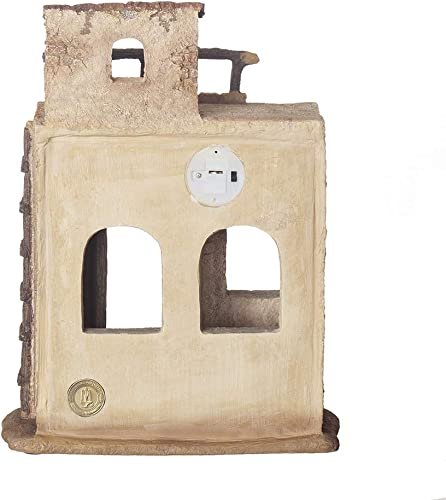 Fontanini, Nativity Building, Lighted Bethlehem Inn, 7.5 Scale, Collection, Handmade in Italy, Designed and Manufactured in Tuscany, Polymer, Hand Painted, Italian, Detailed