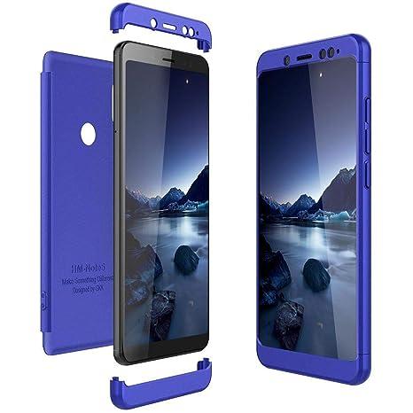 Solaxi Funda Xiaomi Mi A2 Lite Carcasa Mate 3 en 1 360 Grados Cuerpo Completo Ultra Delgado PC Duro Superficie Antigolpes Anti-Arañazos [Protección ...