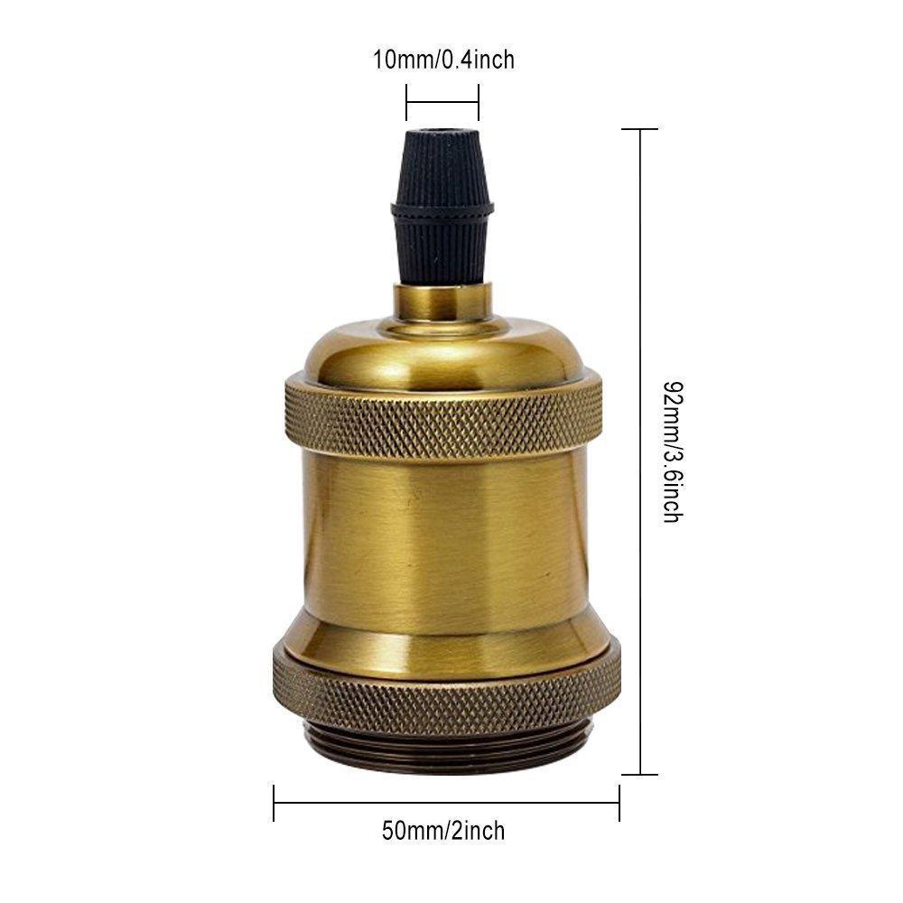GreenSun LED Lighting 5x Lustre Edison E27 Adaptateur De Douille Vintage Pour Lampoule LED R/étro Cuivre C/éramique /à Lint/érieur 110-220V Noir