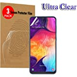 [3 Pack] for Samsung Galaxy A20 Screen Protector Curve High Definition Ultra Clear & Anti-Glare Matte High Definition LCD Screen Protector Film Guard (3X Clear Protectors)