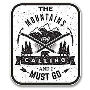 The Mountains Are Trade 2 pack DECALS 4 INCH