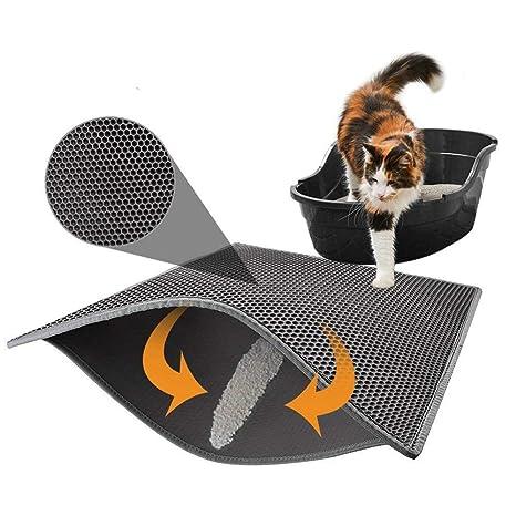 BYCWS Caja de Arena para Gatos Trampilla de Arena, diseño de Nido de Abeja de. Pasa el ...