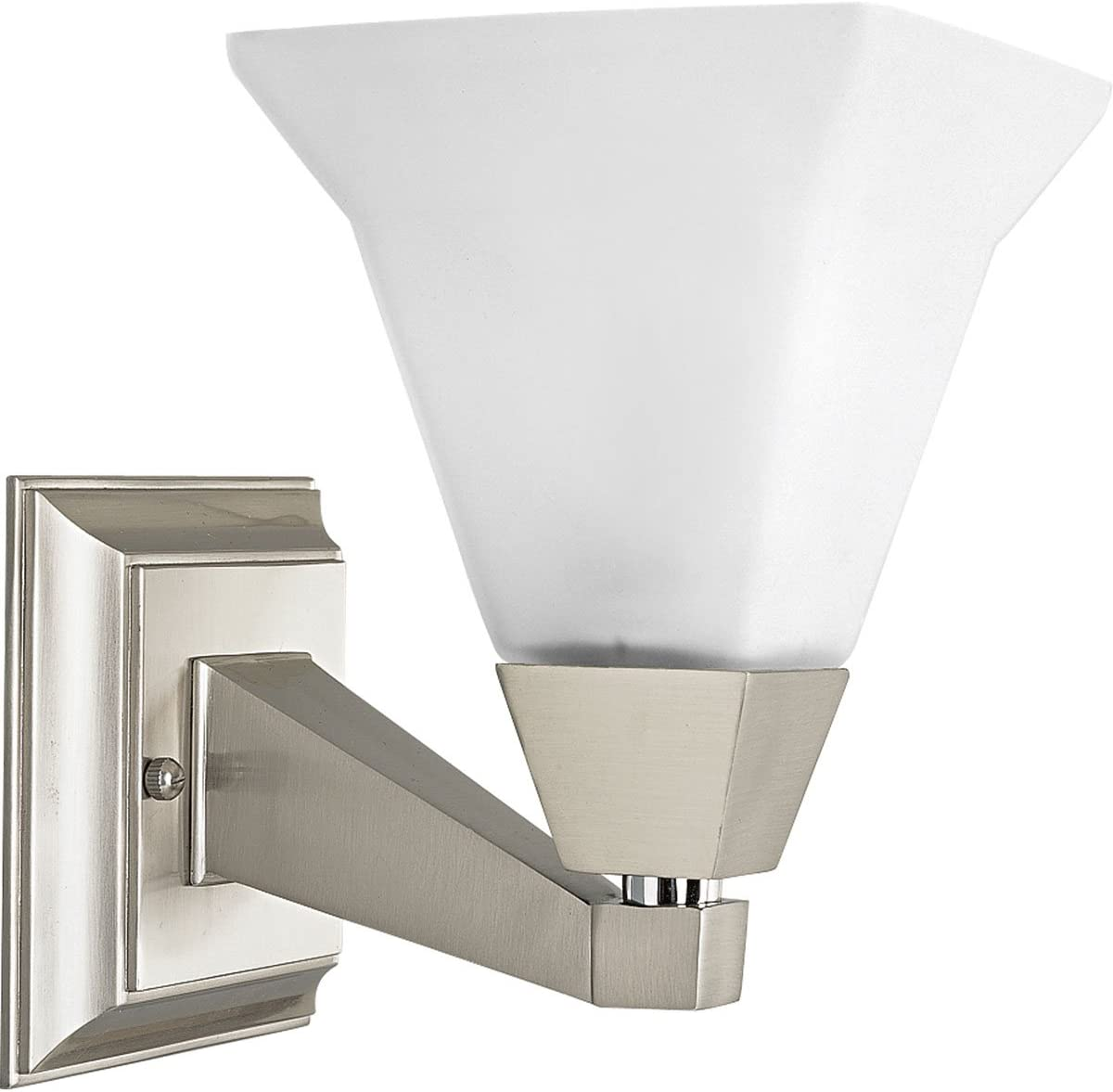 Progress Lighting P3135-09 1-Light Bath Bracket Fixture, Brushed Nickel