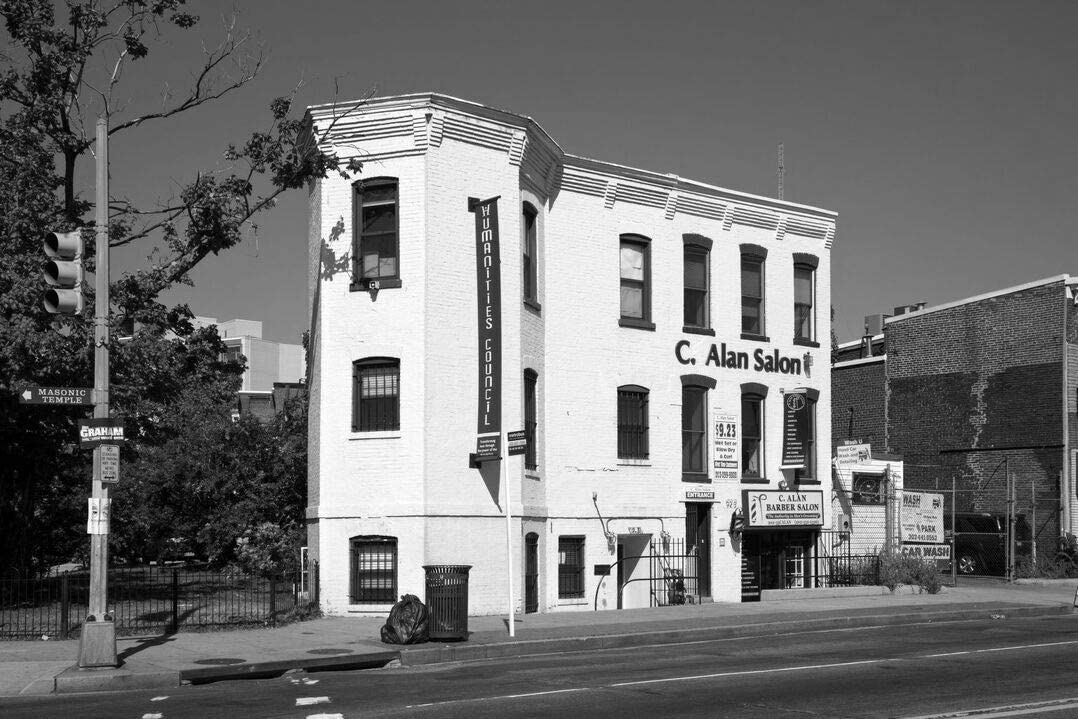 18 x 24 Black & White Canvas Wrapped Print of Building at The Intersection of U St and Vermont Ave NW Washington D.C. i47 2010 Highsmith