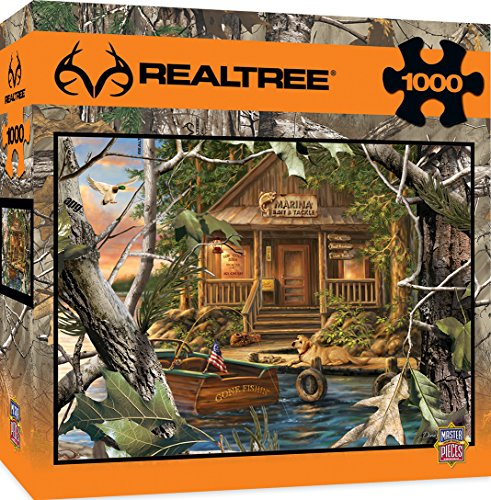 MasterPieces REALTREE Gone Fishing 1000 Piece Jigsaw Puzzle by Dona Gelsinger