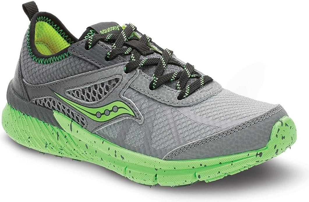 Zapatillas Running para niño Gris/Verde Talla 7US: Amazon.es: Zapatos y complementos