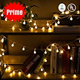 Globe String Lights, 33FT 100 Led Plug in Fairy Lights Outdoor, Waterproof Decorative Ball String Light for Bedroom Christmas Patio Garden Wedding Xmas Party(Warm White)