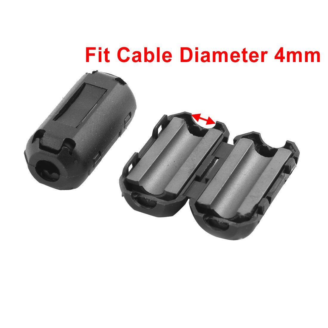 Uxcell a11112800ux0062 Clip on EMI RFI Noise Ferrite Core Filter for 4 mm Cable