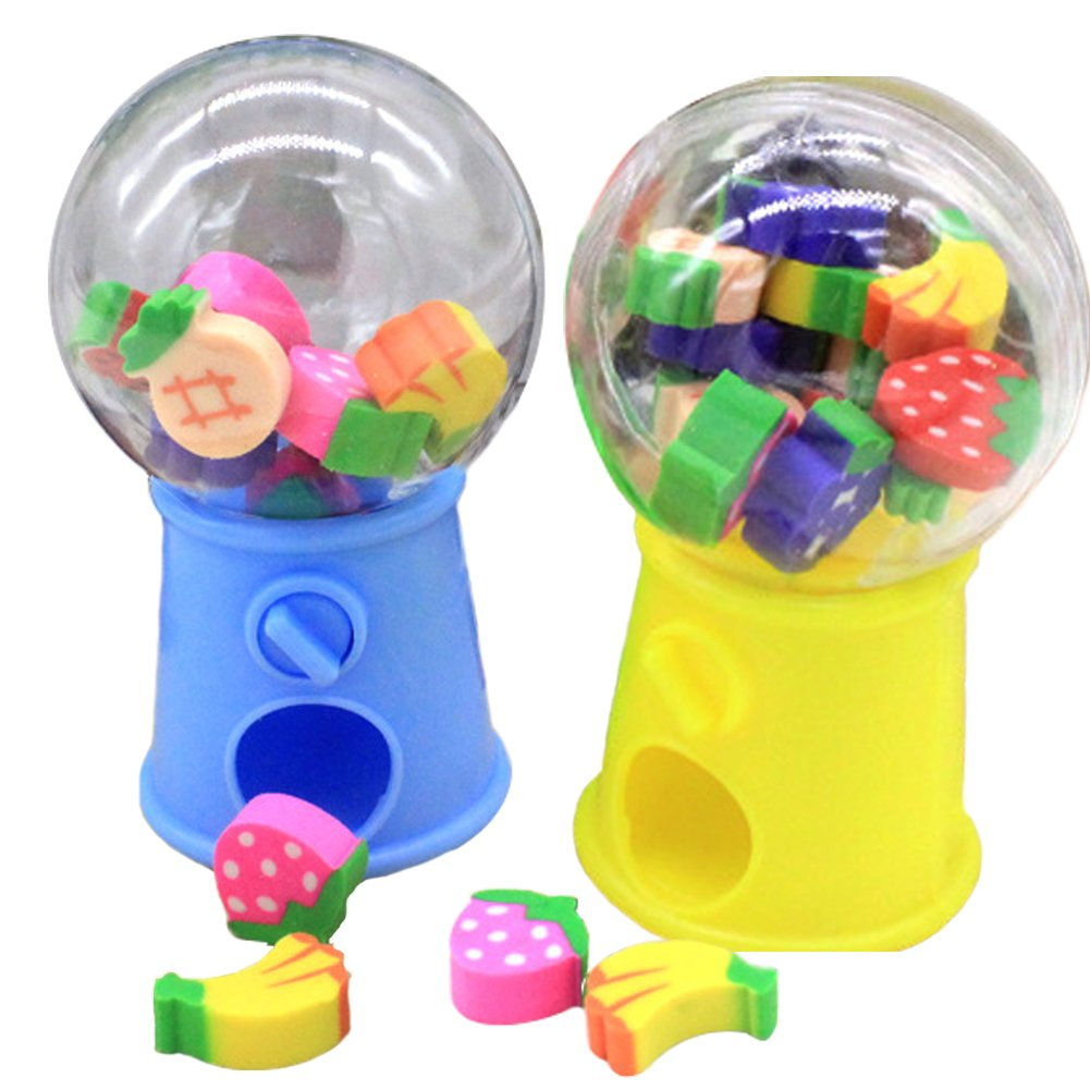 HKJYC Gashapon toy Fruit shape toy stationery eraser children's gift toys Originality