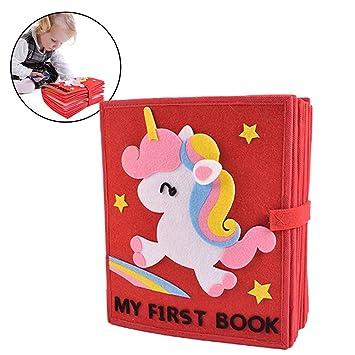 Per Livres Mous Materiel Montessori Livres De Bricolage Pour Apprendre A Se Habiller Et A Se Connaitre Pour Bebes 1 3 Ans