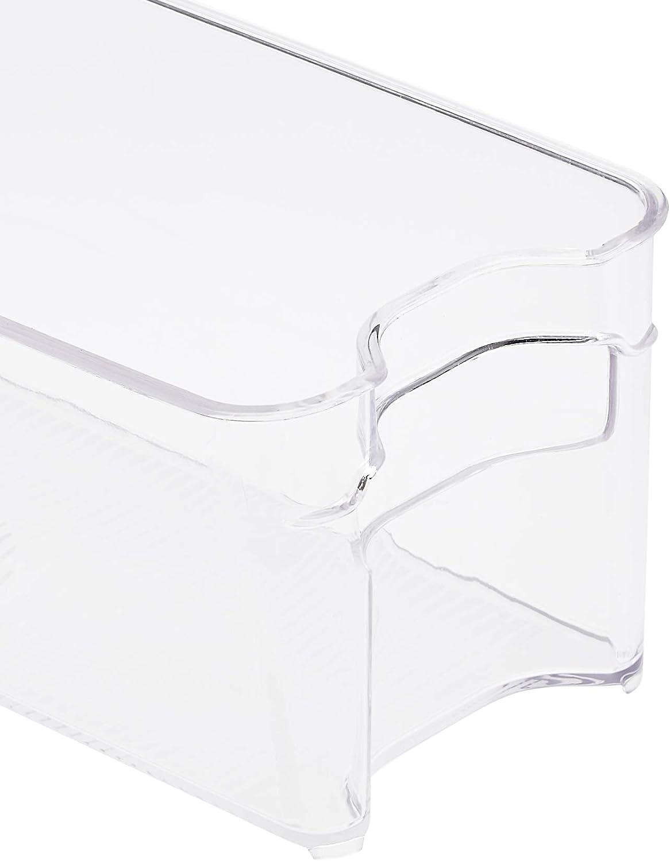 Basics Plastic Fridge Bin 2-Pack Narrow