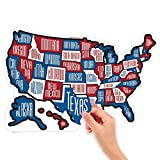 RV State Stickers ~ Red White
