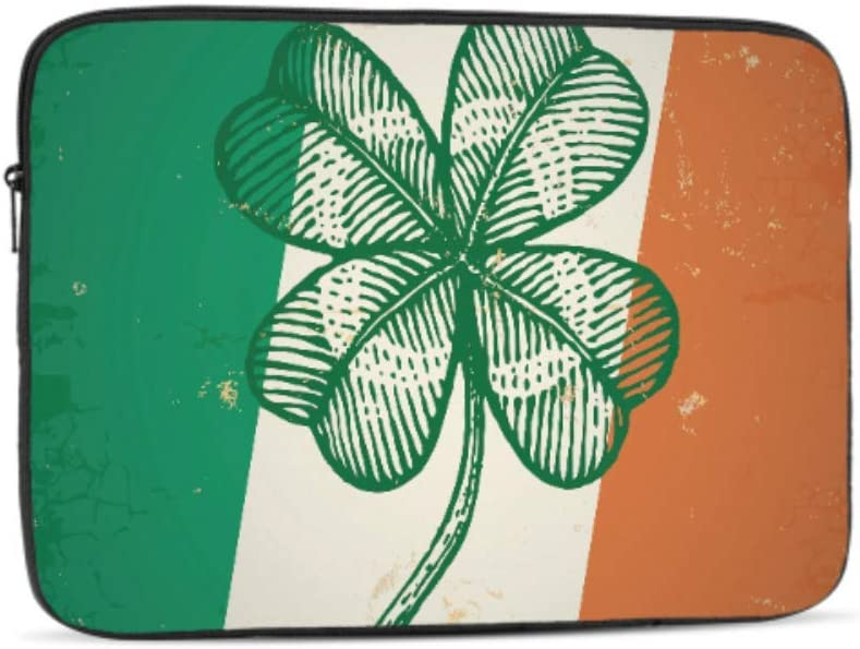 Designed to Fit Any Laptop//Notebook//ultrabook//MacBook with Display Size 11.6 Inches Patrick Retro Clover On Irish Flag Pattern Neoprene Sleeve Pouch Case Bag for 11.6 Inch Laptop Computer