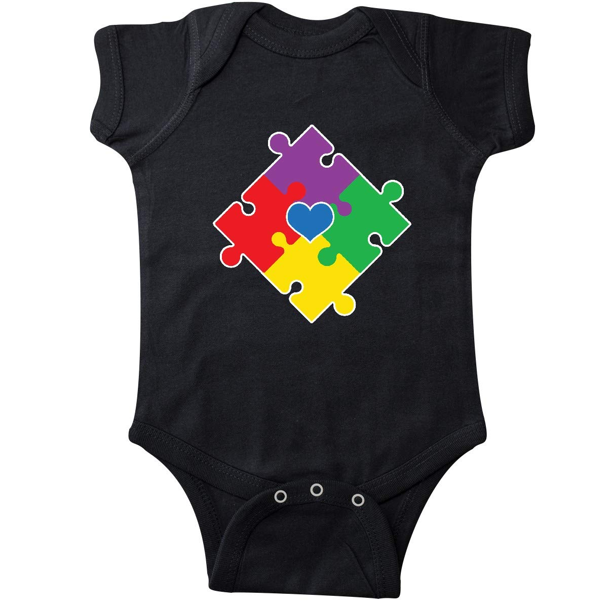 inktastic Autism Awareness Be Kind Green Puzzle Piece Infant Tutu Bodysuit