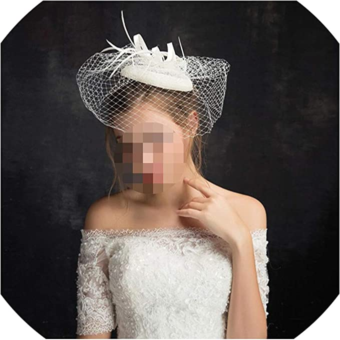 1950s dress Fascinator wedding headpiece Birdcage veil vintage style bridal headpiece hair accessories