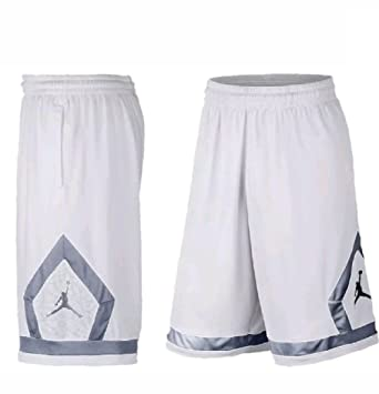 57712455a6300 Amazon.com: NIKE Jordan Flight Diamond Mens White/Gray DriFit ...
