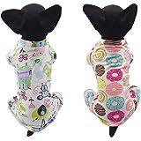 dofyou 2-Piece Cotton Dog Pajamas Dog Jumpsuit Cozy Dog Clothes Pet Shirt