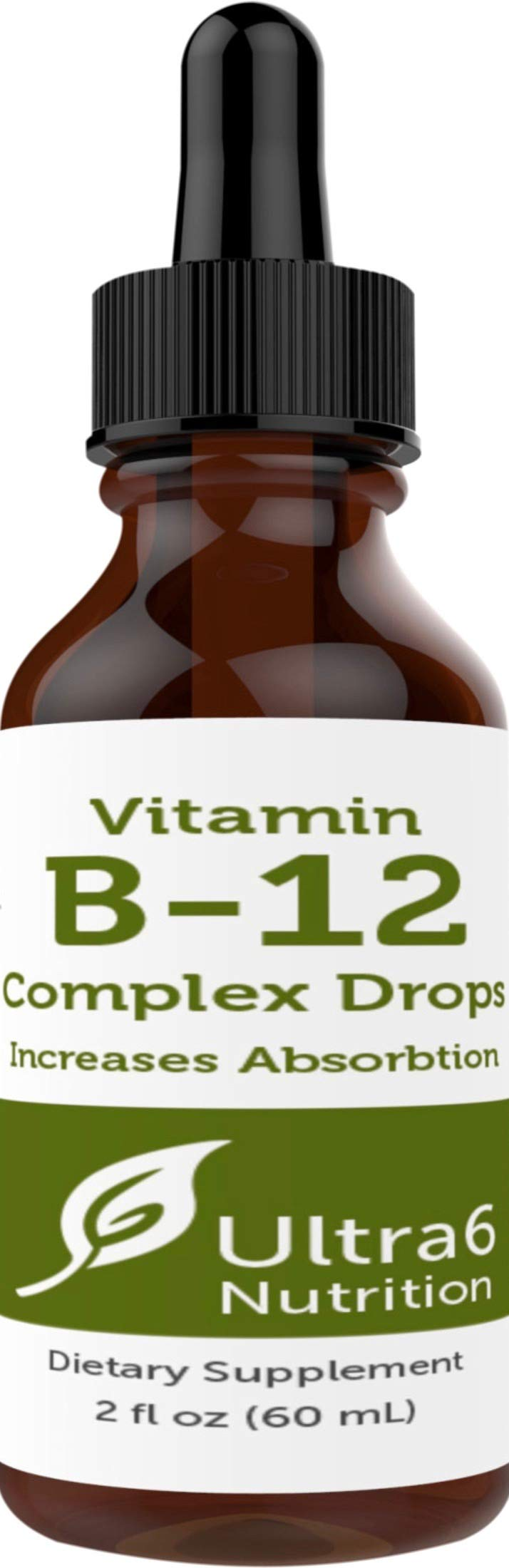 Vitamin B12 Drops in Liquid Form for Best Absorption - Methylcobalamin B12 Great for Energy, Sublingual Nutrition and Weight Loss by Ultra6 Nutrition