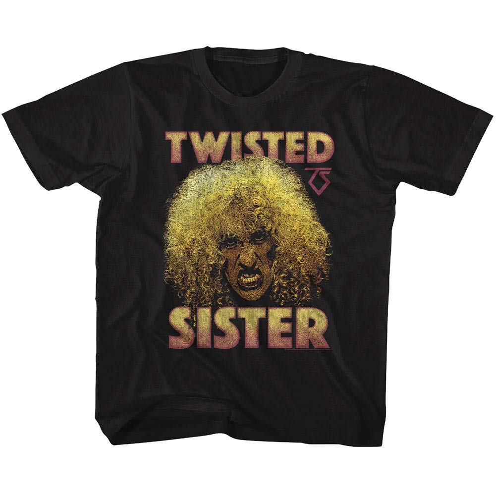 Twisted Sister Heavy Metal Band Big Curly Hair Dee Snider T Shirt Tee